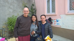 Kumari, N Thinley y Karma Tenpa