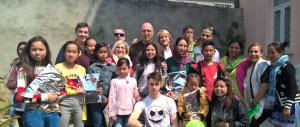 equipo a su llegada a nepal 2016